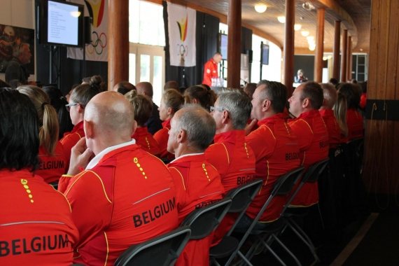 Team Belgium in the Sportimonium